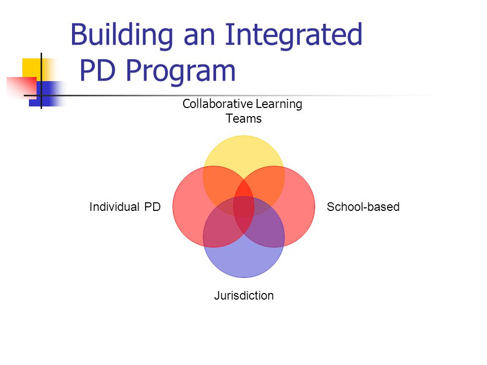 Building an Integrated PD Program