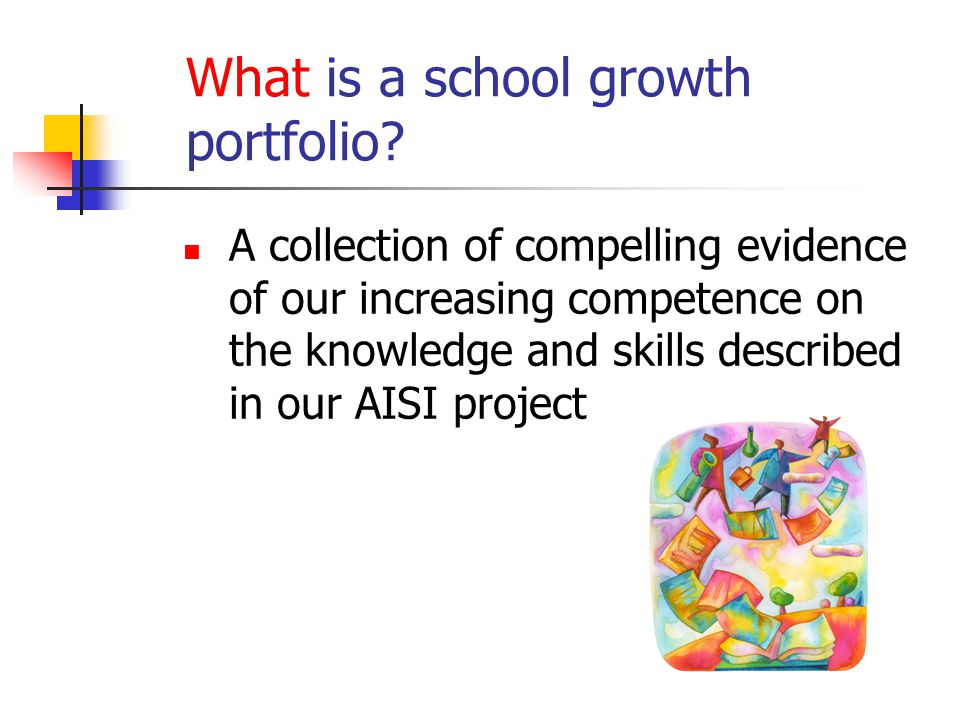 What is a school growth portfolio