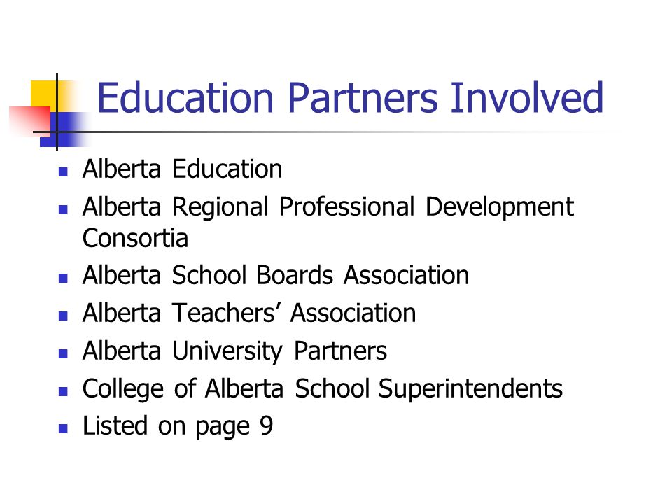 Education Partners Involved