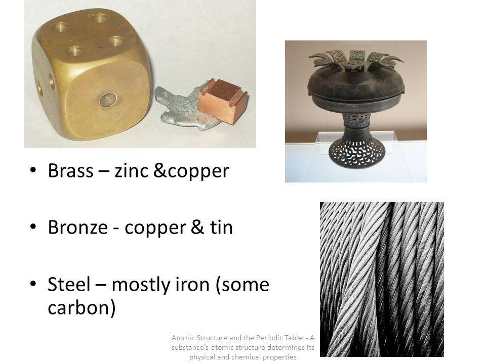 Steel – mostly iron (some carbon)