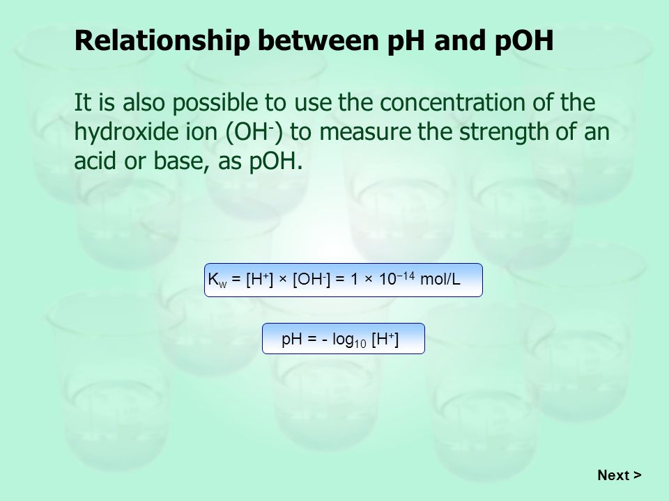 relationship between ph and pk