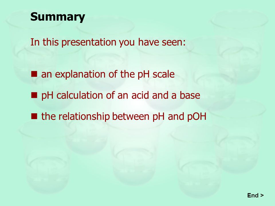 Summary In this presentation you have seen: