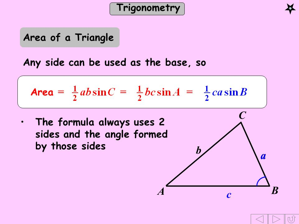 how to find the base of a triangle without area