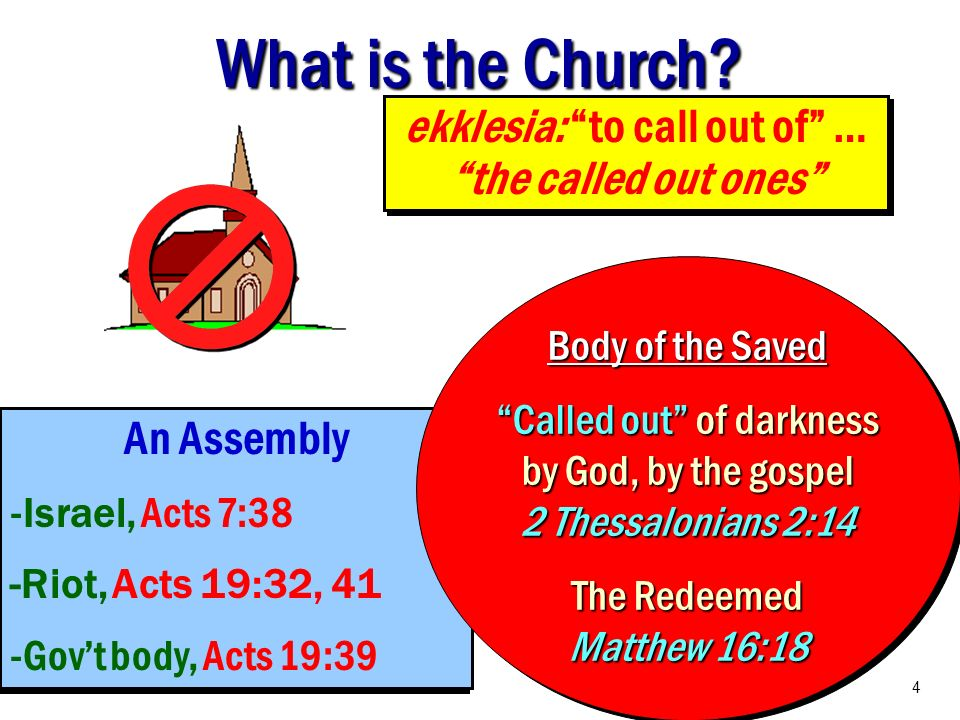ekklesia: to call out of … the called out ones