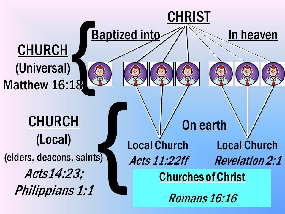 { { CHRIST CHURCH (Universal) Matthew 16:18