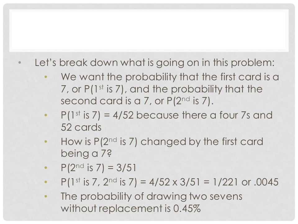 Let's break down what is going on in this problem:
