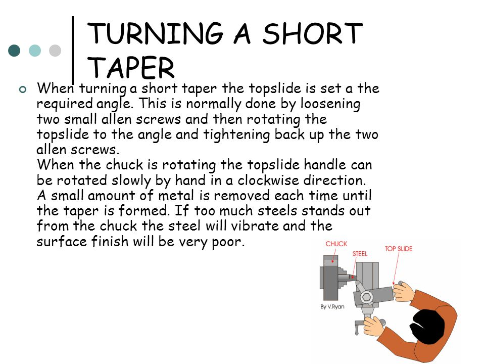 TURNING A SHORT TAPER