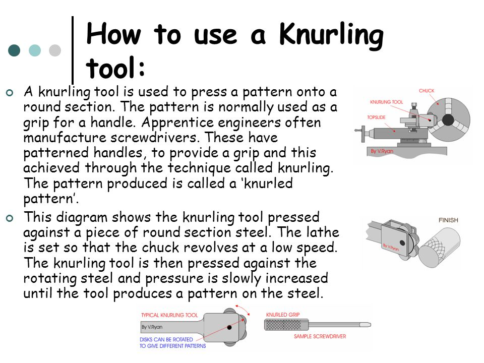 How to use a Knurling tool: