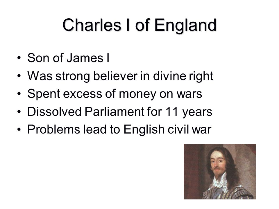 Charles I of England Son of James I