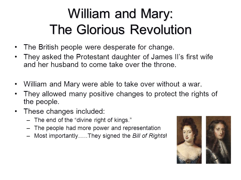 William and Mary: The Glorious Revolution