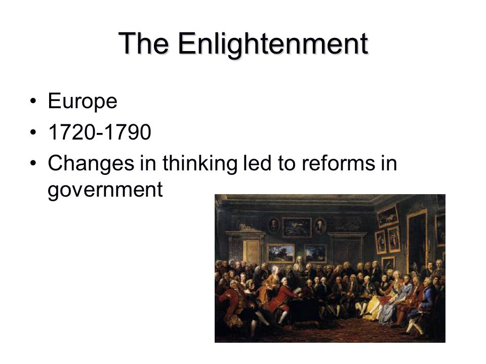 The Enlightenment Europe 1720-1790