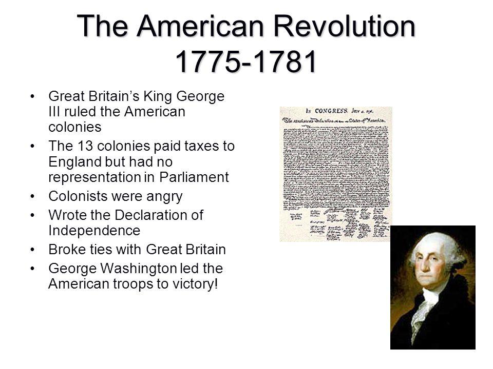 The American Revolution 1775-1781