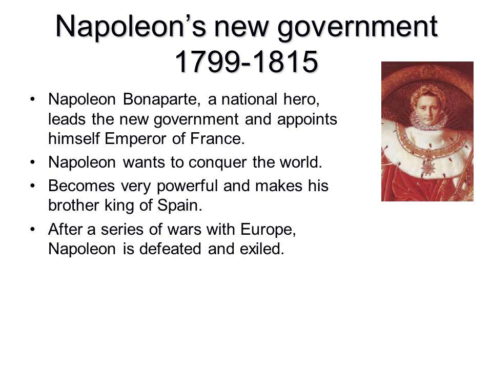 Napoleon's new government 1799-1815