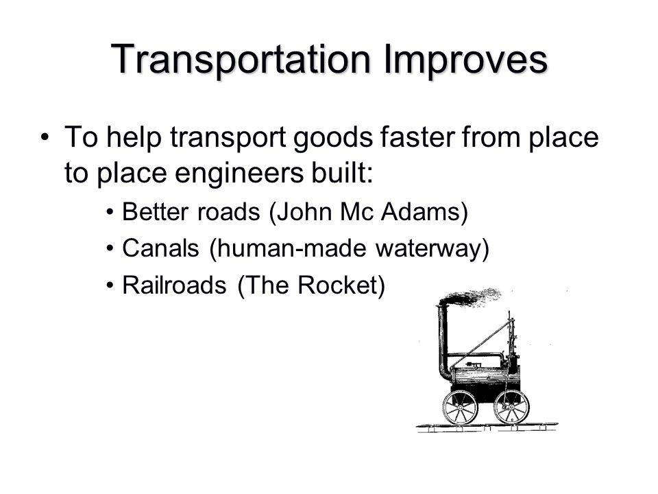 Transportation Improves