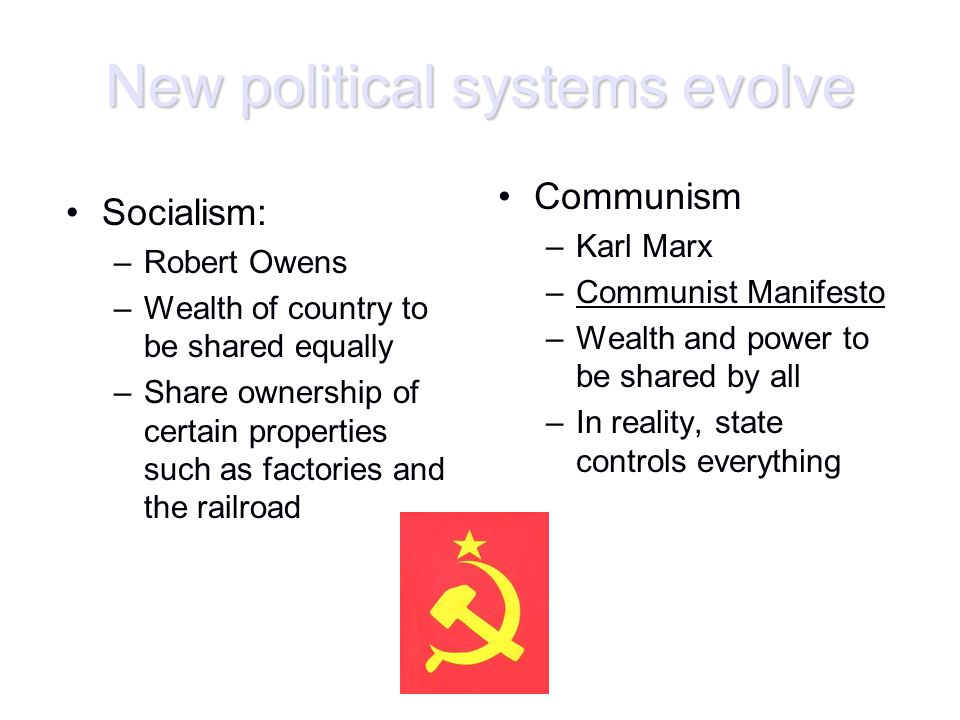 New political systems evolve