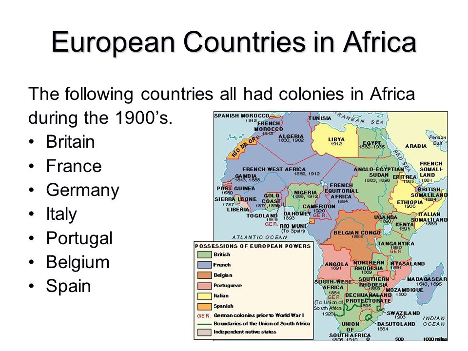 European Countries in Africa