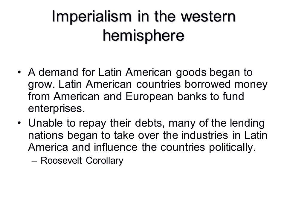 Imperialism in the western hemisphere