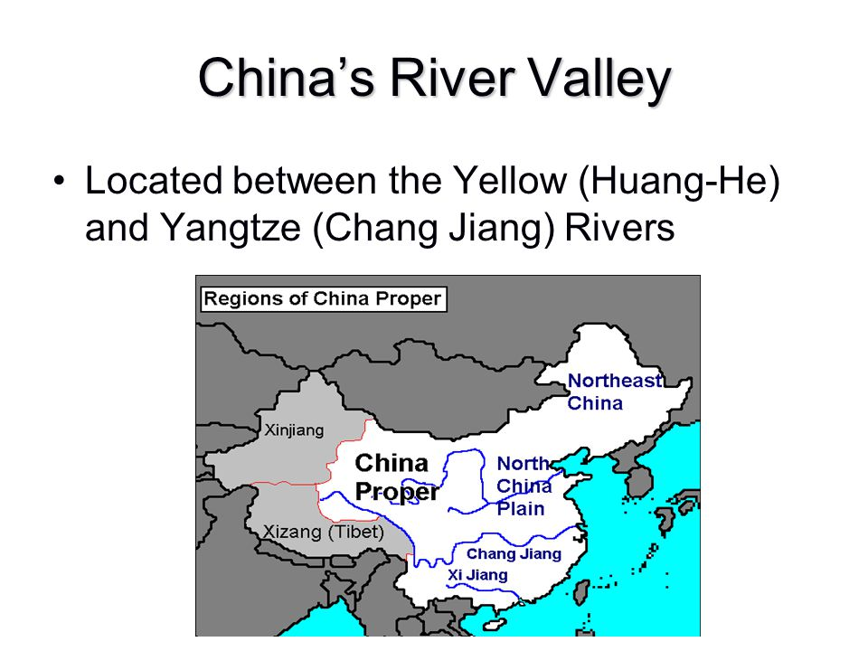 China's River Valley Located between the Yellow (Huang-He) and Yangtze (Chang Jiang) Rivers