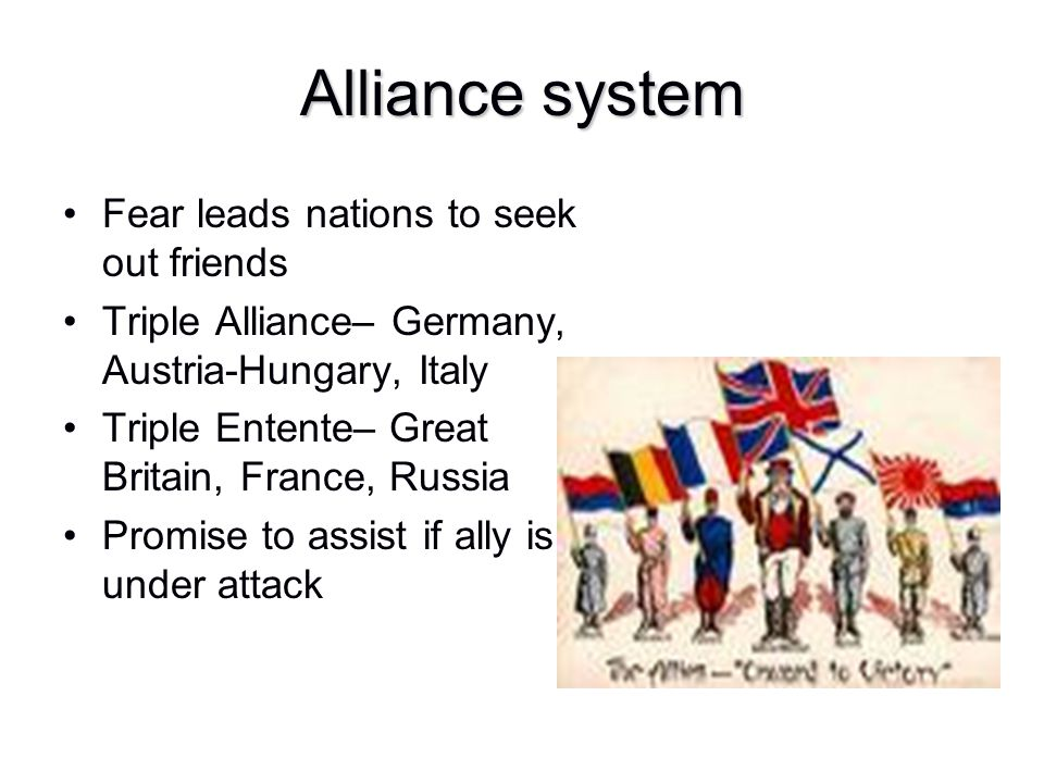 Alliance system Fear leads nations to seek out friends