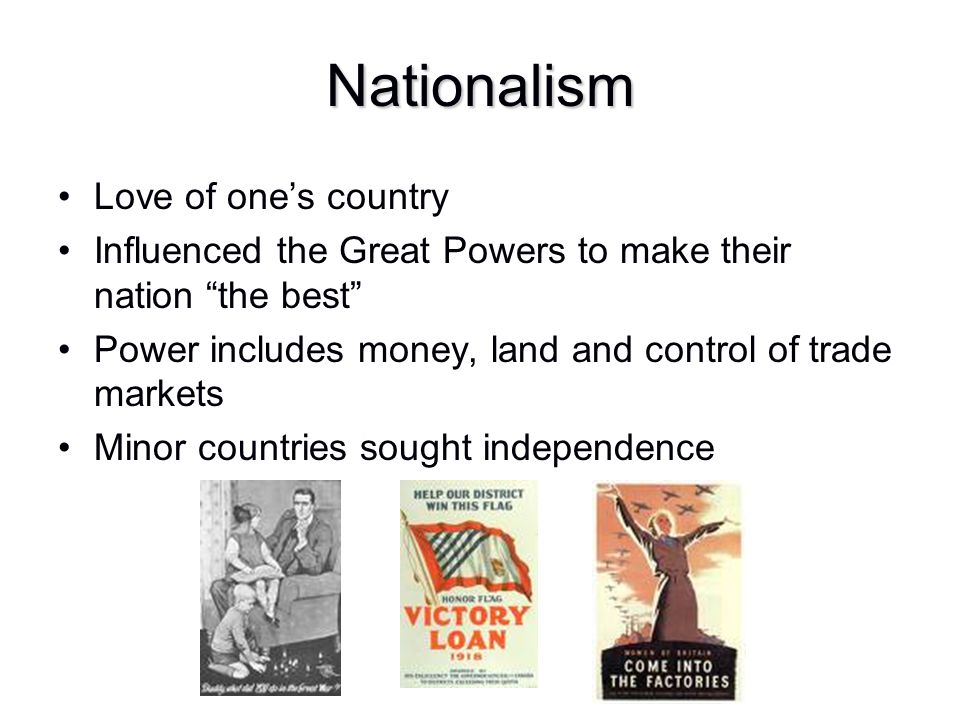 Nationalism Love of one's country