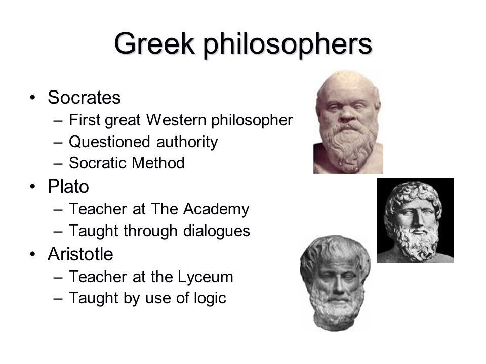 Greek philosophers Socrates Plato Aristotle