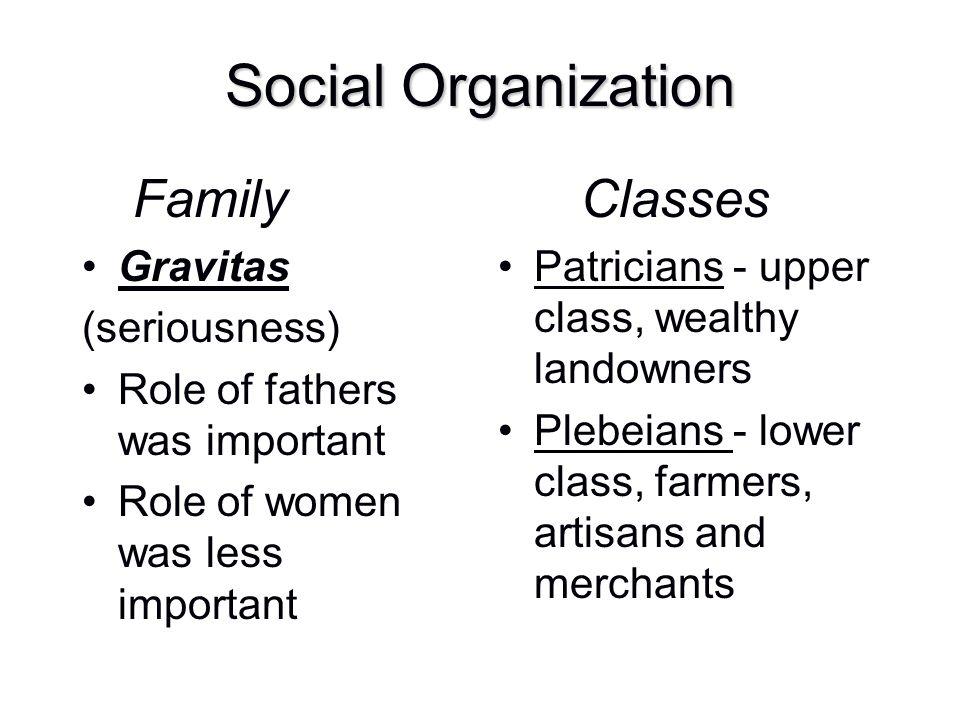 Social Organization Family Gravitas (seriousness)