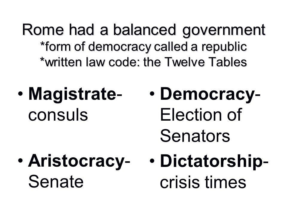 Democracy-Election of Senators
