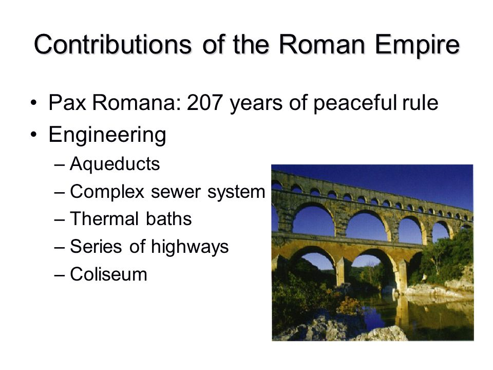 Contributions of the Roman Empire