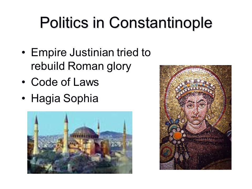 Politics in Constantinople