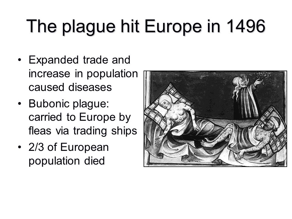The plague hit Europe in 1496