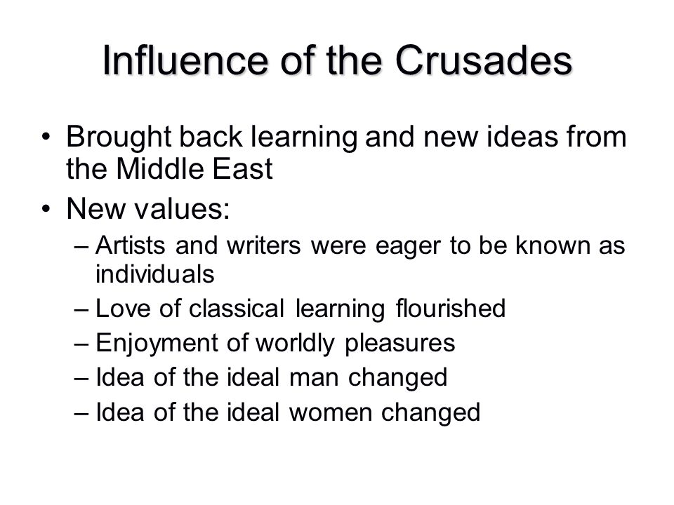 Influence of the Crusades