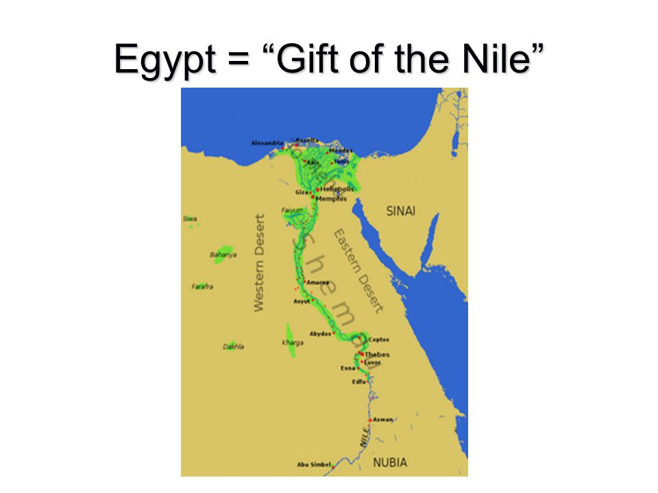 Egypt = Gift of the Nile