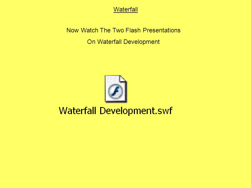 Now Watch The Two Flash Presentations On Waterfall Development