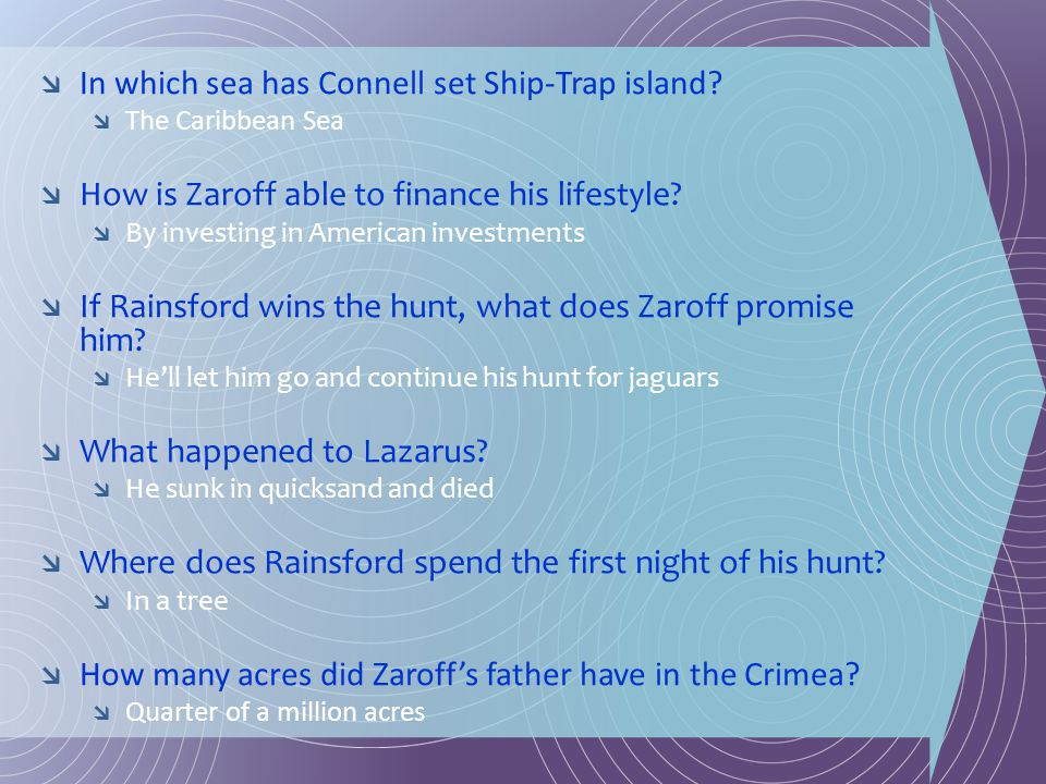In which sea has Connell set Ship-Trap island