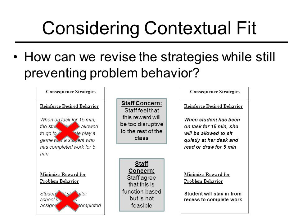 Considering Contextual Fit