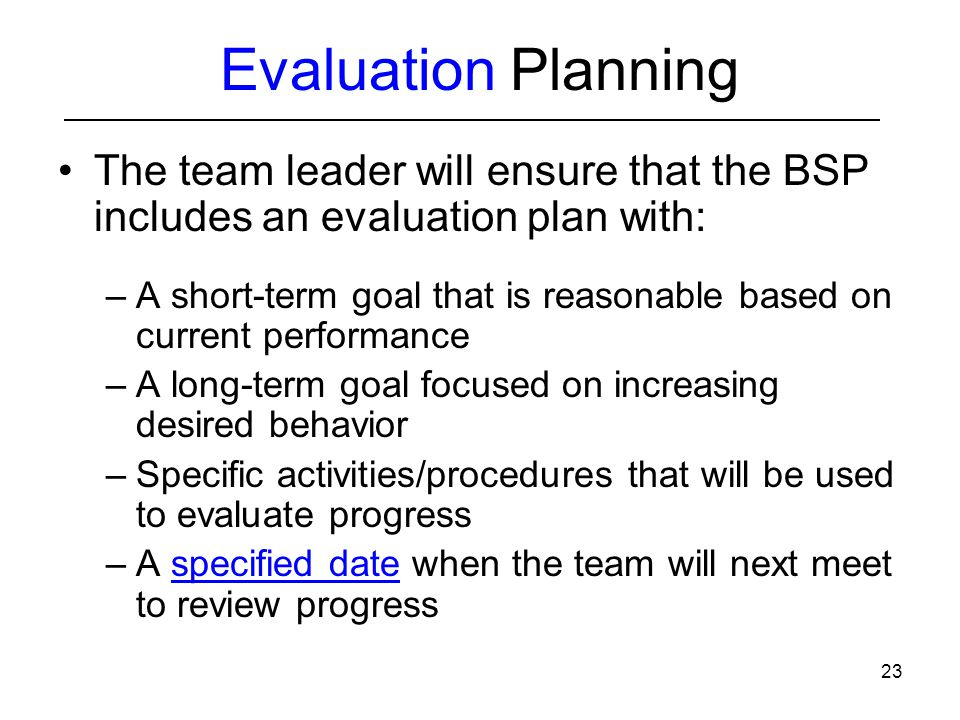 Basic Fba To Bsp Module  Implementation And Evaluation Planning