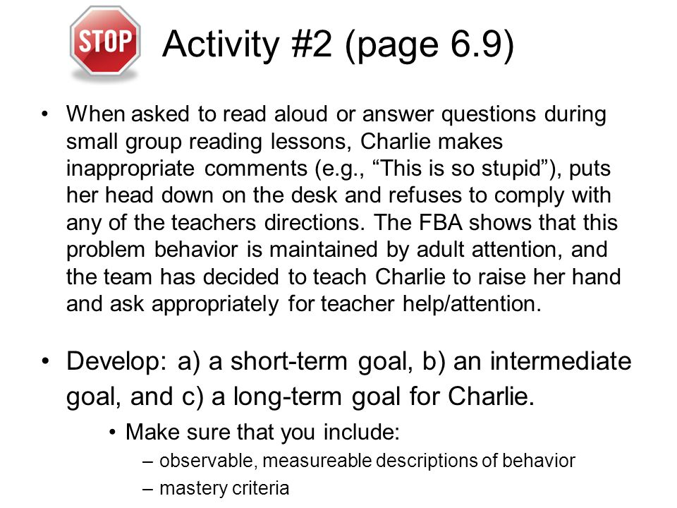 Activity #2 (page 6.9)