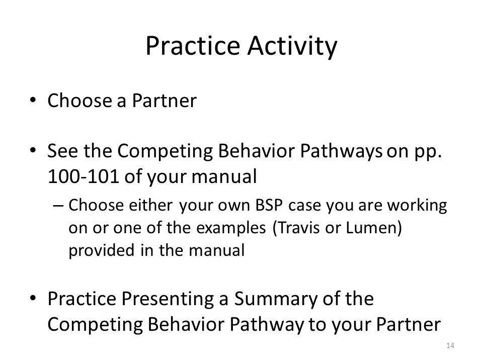 Practice Activity Choose a Partner