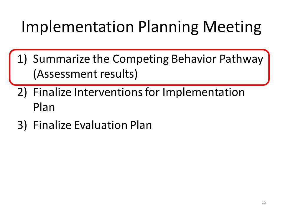 Implementation Planning Meeting