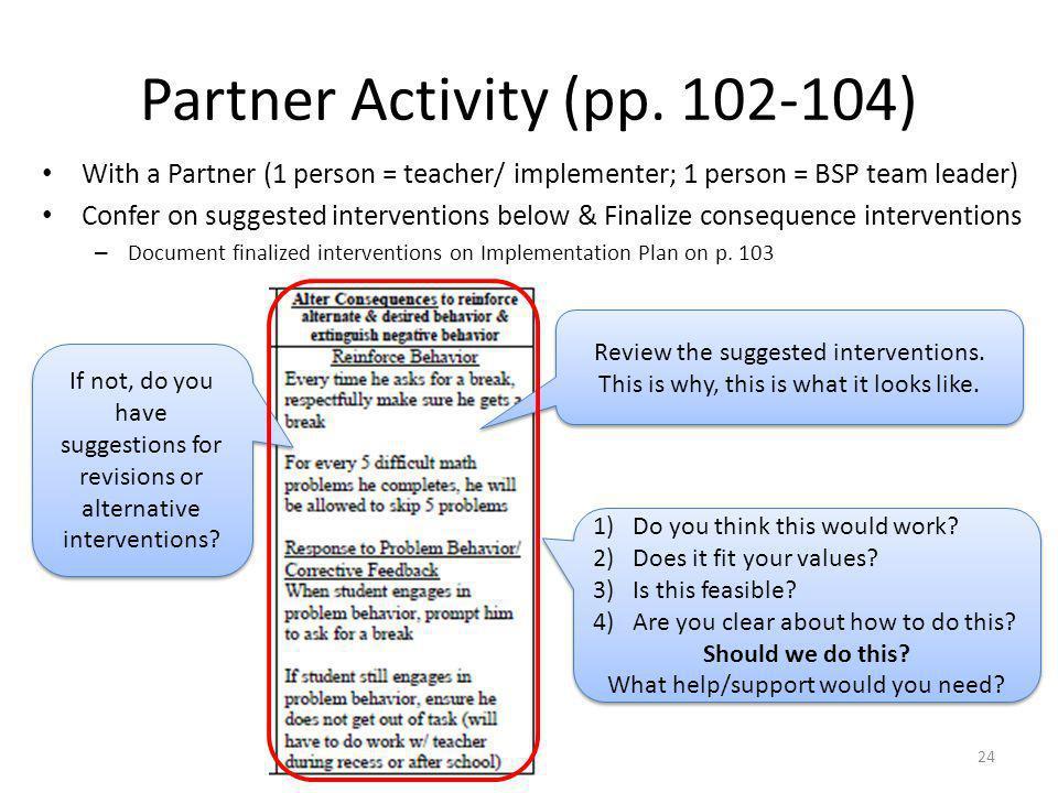 Partner Activity (pp. 102-104)