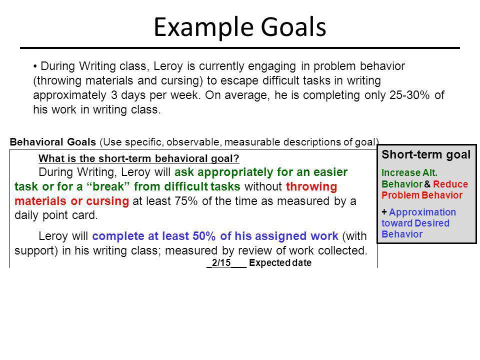 Example Goals