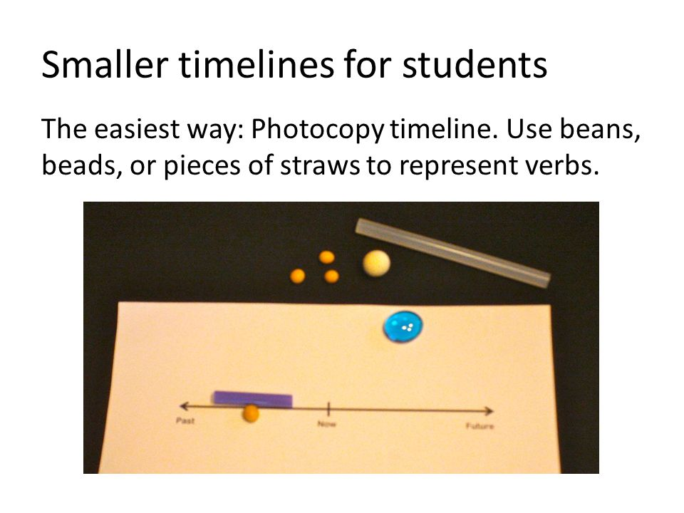 Smaller timelines for students