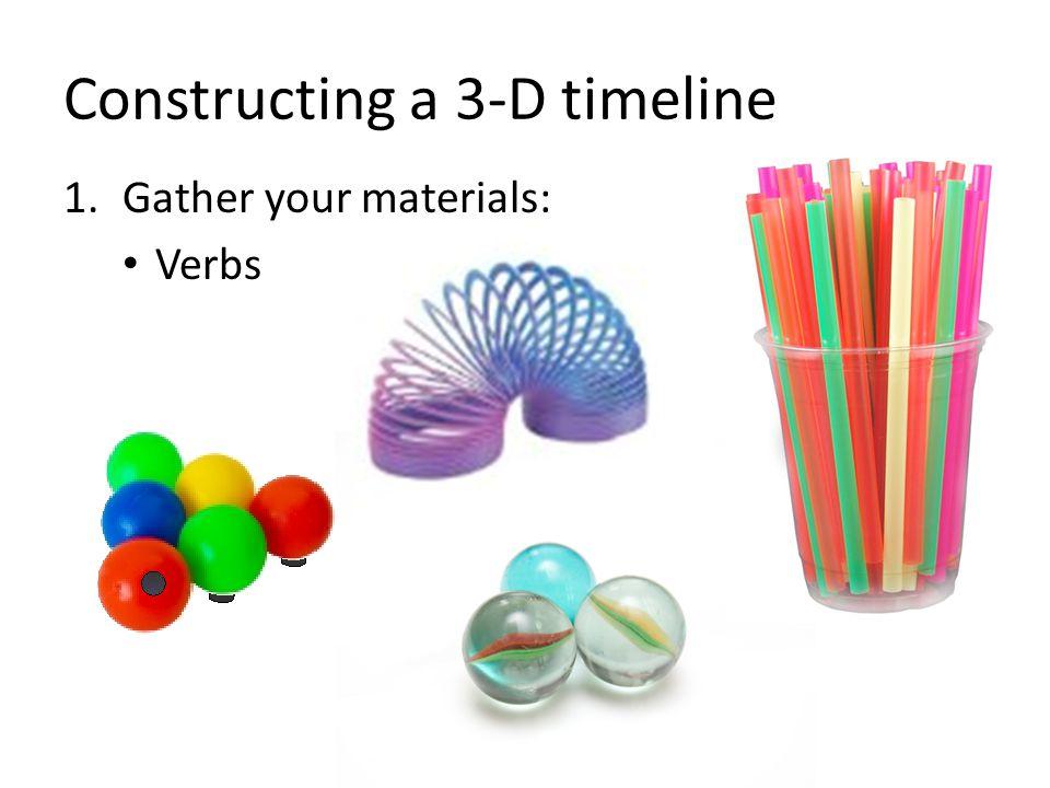 Constructing a 3-D timeline