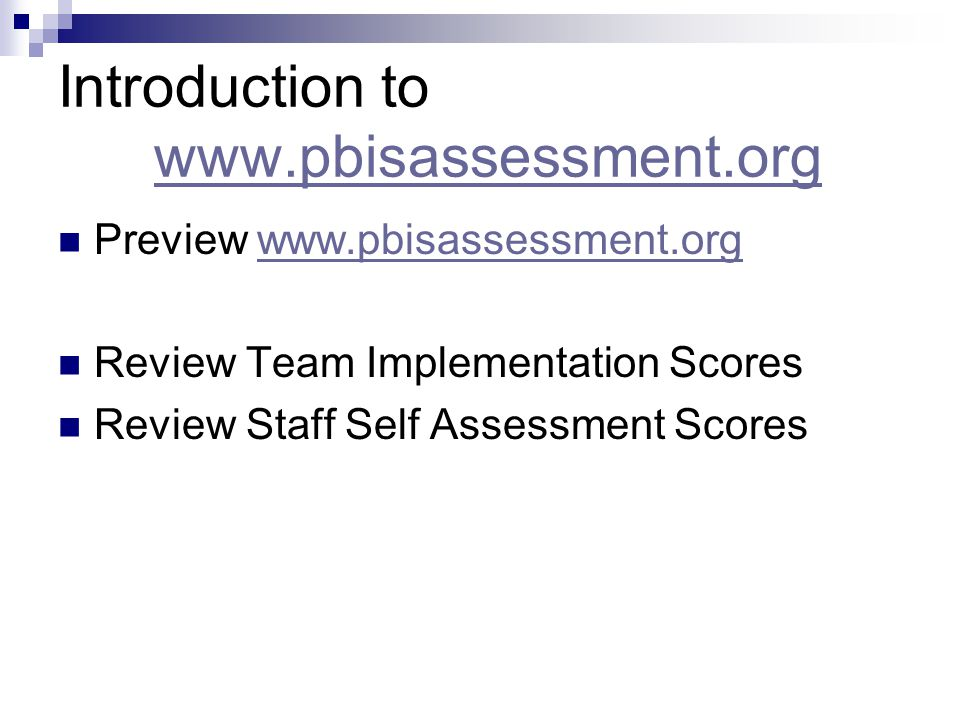 Introduction to www.pbisassessment.org