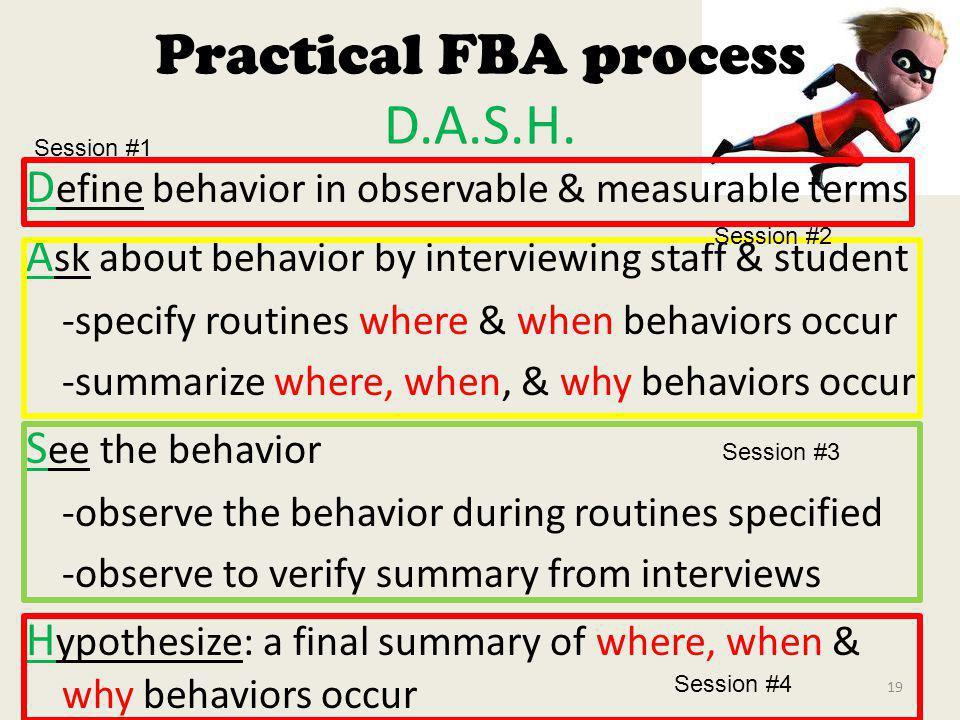 Practical FBA process D.A.S.H.