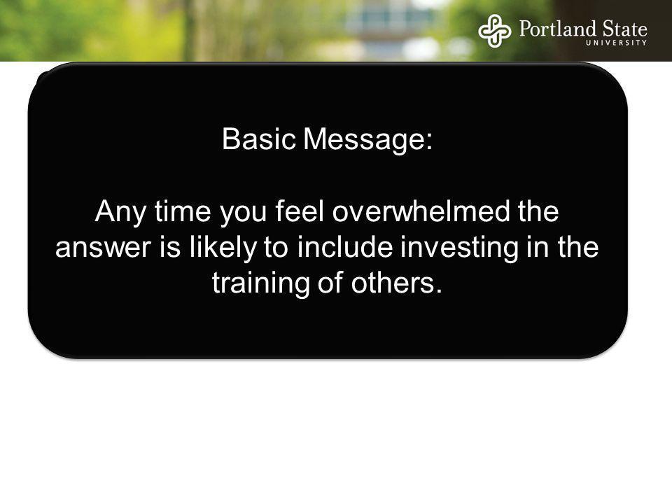 Concern Basic Message: