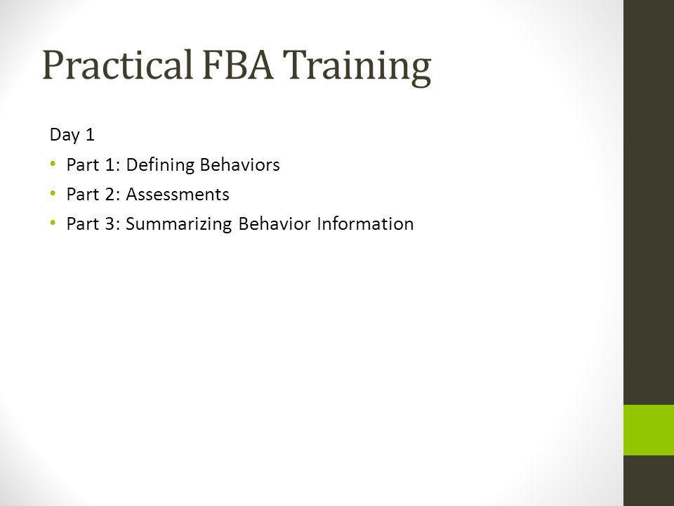 Practical FBA Training