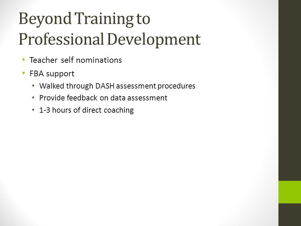 Beyond Training to Professional Development