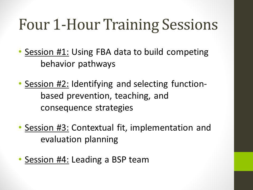 Four 1-Hour Training Sessions