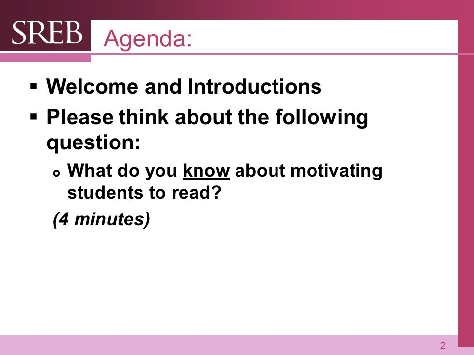 Agenda: Welcome and Introductions